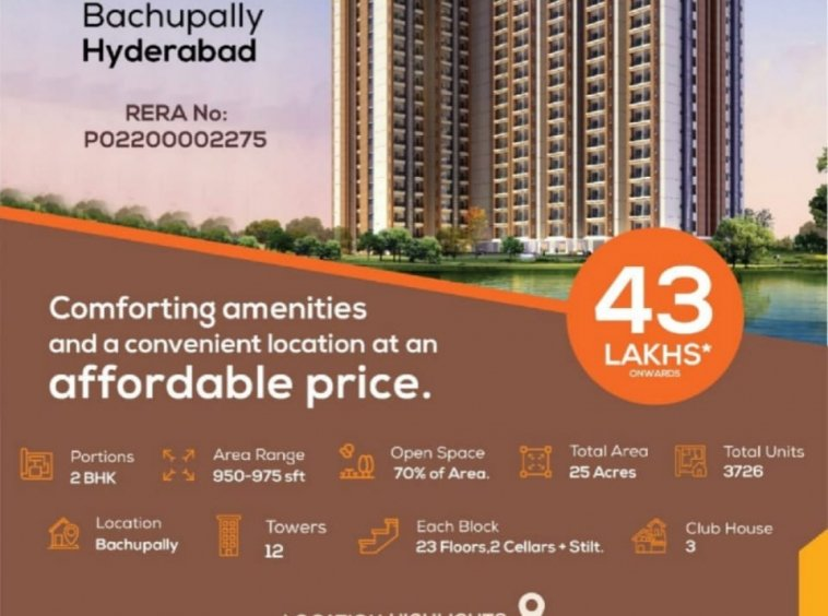 2 BHK Flat for Sale in Bachupally Hyderabad